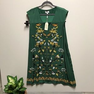 MSSP green dress with yellow birds